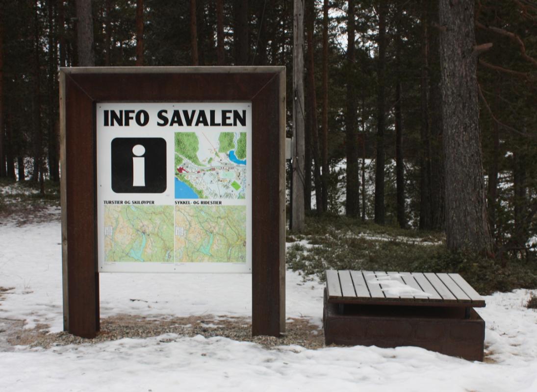 Infoskilt i corten, Savalen